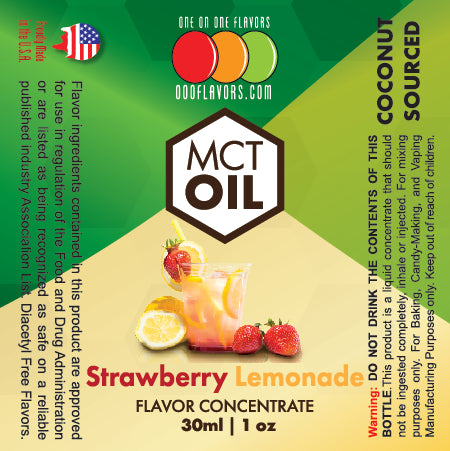 Natural Strawberry Lemonade - MCT Concentrated Flavored Oil *Unsweetened*