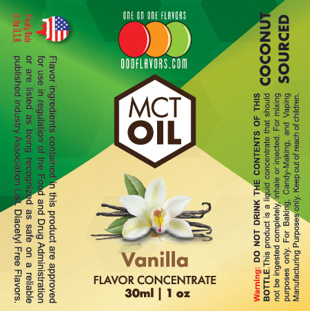 Natural Vanilla - MCT Concentrated Flavored Oil *Unsweetened*