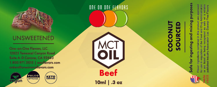Natural Beef - MCT Concentrated Flavored Oil *Unsweetened*