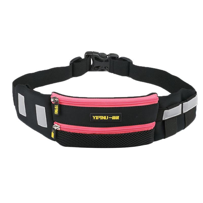 Yipinu Multifunction Reflective Running Waist Bag Sport Packs For Music With Headset Hole-Fits Smartphones