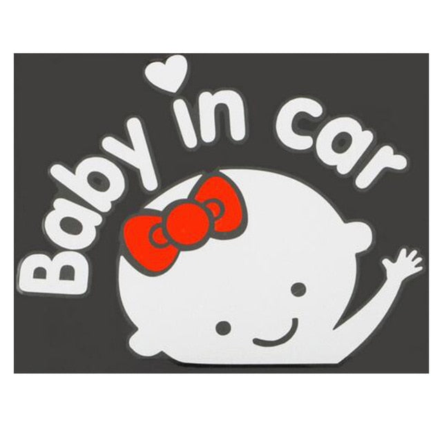 Car styling 3D Cartoon Stickers Baby In Car Warming Car-Sticker Baby on Board High Quality Dewtreetali