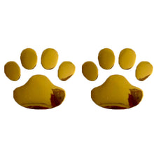 Load image into Gallery viewer, Dewtreetali Car Sticker Cool Design Paw 3D Animal Dog Cat Bear Foot Prints Footprint 3M Decal Car Stickers Silver Gold Red Bla