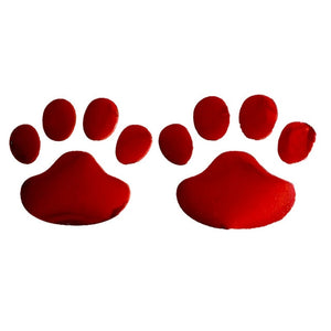 Dewtreetali Car Sticker Cool Design Paw 3D Animal Dog Cat Bear Foot Prints Footprint 3M Decal Car Stickers Silver Gold Red Bla
