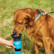 Load image into Gallery viewer, Dog Travel Water Bottle Dispenser Plastic Dog Cat Drinking Water Feeder Portable Outdoor Pet Puppy Kettle