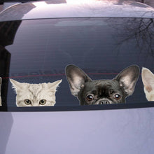 Load image into Gallery viewer, Funny 3D Cat Dog Half a face Peeking car sticker Wall background Art decals decorations cute animal wall stickers for home decor