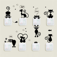 Load image into Gallery viewer, Lovely Cat Light Switch Phone Wall Stickers For Kids Rooms Diy Home Decoration Cartoon Animals Wall Decals Pvc Mural Art
