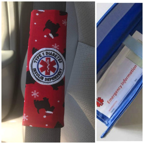 Santa Dog Patch Seat Belt Alerts