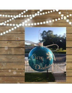 Cure Diabetes Ornament
