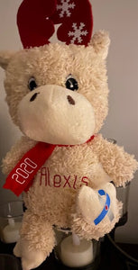 Personalized Moose With Diabetes Ribbon