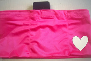 Pink Heart Decal Insulin Pump Band-Running Band