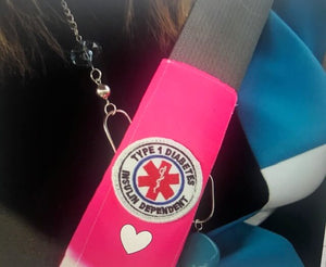 Heart Decal Seat Belt Alerts