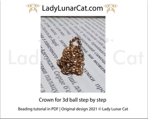 Free Crown for 3d ball beading tutorial