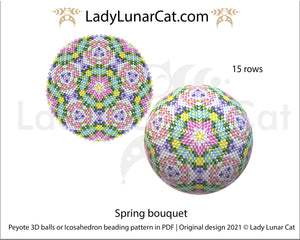 FREE Beaded ball pattern for beading Spring bouquet by Lady Lunar Cat