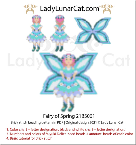 Brick stitch pattern for beading Winter Labradors 20P010   Christmas beaded earrings tutorial by Lady Lunar Cat
