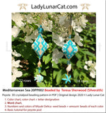 3d Peyote pod patterns for beading Mediterranean Sea 20PP002 LadyLunarCat