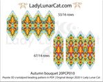 3d peyote pod pattern or crystalpod pattern for beading Autumn bouquet 20PCP0010 LadyLunarCat