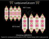 3d peyote pod pattern or crystalpod pattern for beading Christmas 20PCP012 LadyLunarCat