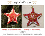 3d peyote star patterns for beading Christmas Winter 18PS043 LadyLunarCat