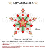 3d peyote star patterns for beading Christmas tree 19PS027 LadyLunarCat