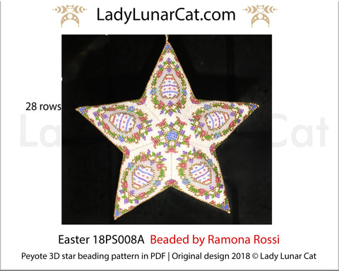 3d peyote star patterns for beading Easter 18PS008A LadyLunarCat