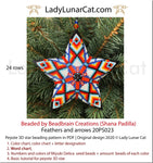 3d peyote star patterns for beading Feathers and arrows 20PS023 LadyLunarCat