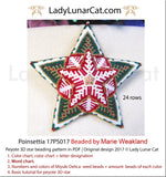 3d peyote star patterns for beading Poinsettia 17PS017 LadyLunarCat
