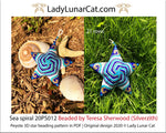 3d peyote star patterns for beading Sea spiral 20PS012 LadyLunarCat