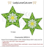Beaded star pattern for beadweaving Chamomile flower 20PS014 LadyLunarCat