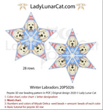 Beaded star pattern for beadweaving Winter Labradors 20PS026 LadyLunarCat