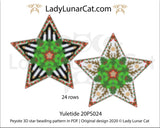 Beaded star pattern for beadweaving Yuletide 20PS024 LadyLunarCat