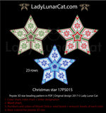 Copy of Beaded star pattern for beadweaving Christmas 21PS001 LadyLunarCat
