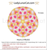 Copy of Peyote 3d ball pattern for beading | Beaded Icosahedron Ermelinda 20PBL012 15 rows LadyLunarCat
