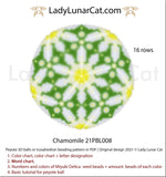 Copy of Peyote 3d ball pattern for beading | Beaded Icosahedron Sunflowers  21PBL006 16 rows LadyLunarCat