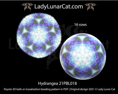 Copy of Peyote 3d ball pattern for beading | Beaded Icosahedron Sunny day 21PBL013 13 rows LadyLunarCat
