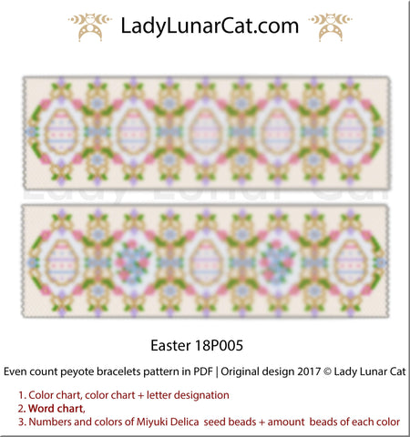 Even count peyote Easter bracelet LadyLunarCat