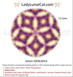 Peyote 3d ball pattern for beading | Beaded Icosahedron Velvet 20PBL009  12 rows LadyLunarCat