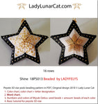 Peyote star patterns for beading Christmas ornament Shine 18PS013 LadyLunarCat