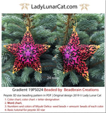 Peyote star patterns for beading Gradient geometric 19PS024 LadyLunarCat