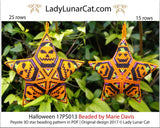 Peyote star patterns for beading Halloween Pumpkin 17PS013 LadyLunarCat