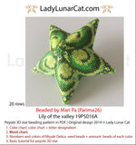 Peyote star patterns for beading Lilies of the valley 19PS016 LadyLunarCat