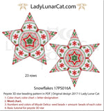 Peyote star patterns for beading Snowflakes 17PS016A LadyLunarCat