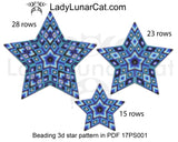 Peyote star patterns for beading blue Geometry 17PS001 LadyLunarCat