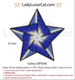 Peyote star patterns for beading celestial Galaxy 20PS006 LadyLunarCat