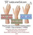 Winter deer peyote bracelet beading pattern 17P025 LadyLunarCat
