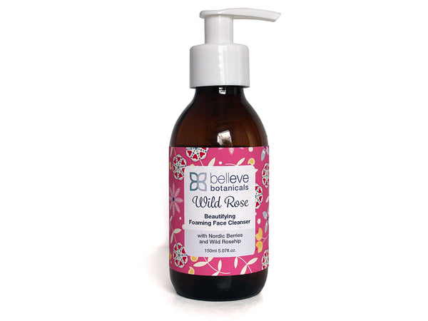 Wild Rose Beautifying Foaming Face Cleanser - with Nordic Berry and Wild Rosehip