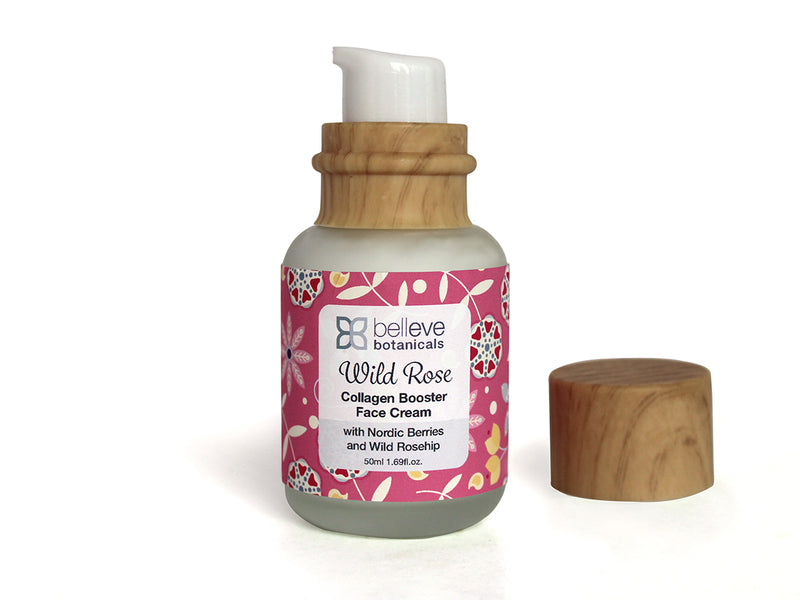 WILD ROSE Collagen Booster Face Cream - with Nordic Berries.