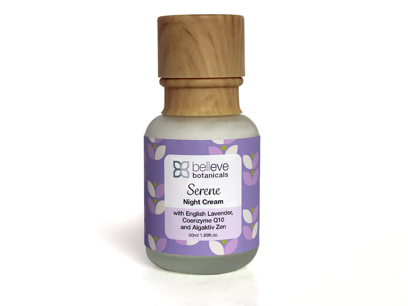 Serene Night Cream - with English Lavender, Coenzyme Q10 and Algaktiv Zen.