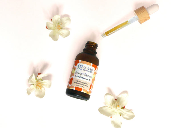 ORANGE BLOSSOM Nourishing Face Oil - with Prickly Pear, Arctic Oat and Neroli.