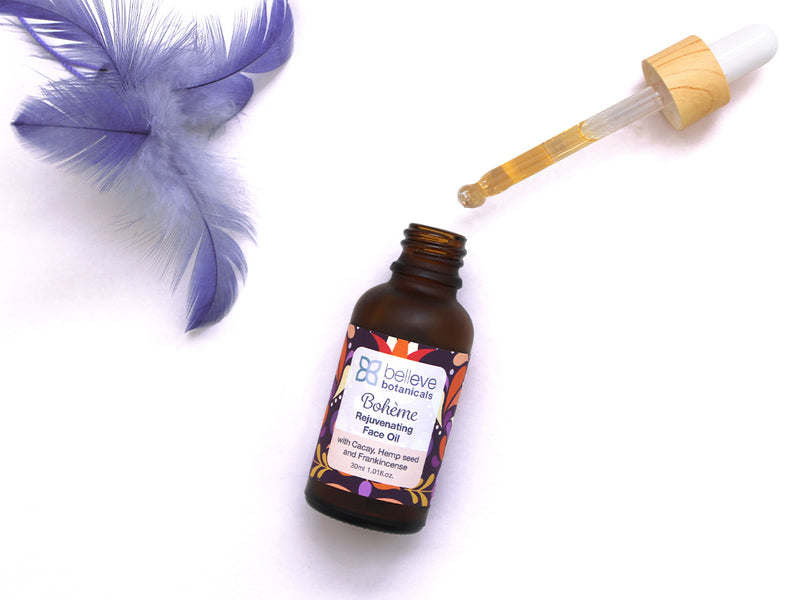 BOHÈME Rejuvenating Face Oil - with Cacay/Kahai, Hemp seed Oil and Frankincense.