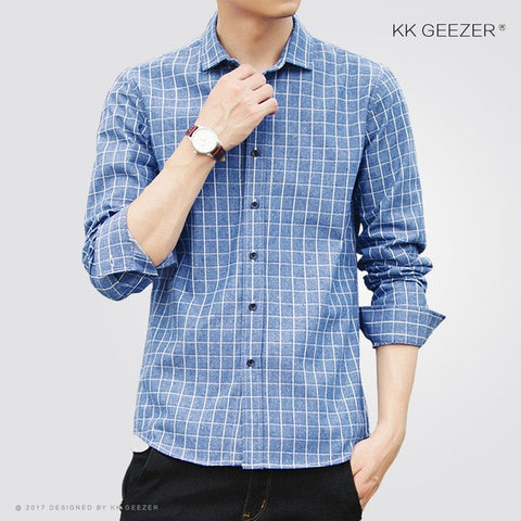 Oxford Casual Long Sleeve Slim Fit Dress Shirt